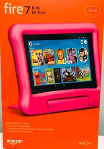 """AMAZON FIRE 7"""" KIDS PINK TABLET WITH 7 INCH DISPLAY 16 GB , 9TH EDITION , NEW"""
