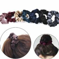 5Pc Wholesale Velvet Elastic Hair Rope Tie Scrunchie Ponytail Holder Accessories