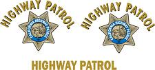 Highway Patrol Restoration Kit Door Trunk Set Decal Sticker Vinyl Car