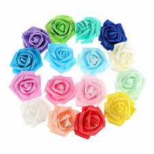 Lot of 100 x 7cm Foam Artificial Rose Flower Home Furnishing Wedding Party Decor
