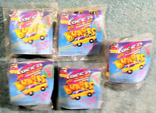 1992 Wendy's Kids Meal Toys -  SPEED BUMPERS  - Mint / Sealed Set of 5