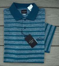NWT GREG NORMAN Tasso Elba Performance Mens Golf Shirt-XL Ret@$60 AQUA LAKE