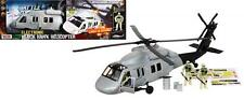 MOTOR MAX BATTLE ZONE ELECTRONIC BLACK HAWK HELICOPTER 78205 LIGHTS & SOUND