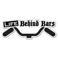 Life Behind Bars Sticker Decal Bicycle Helmet Car Vinyl