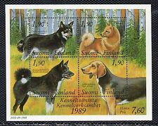 Finlandia Fauna Perros Hojita del año 1989 (CA-185)