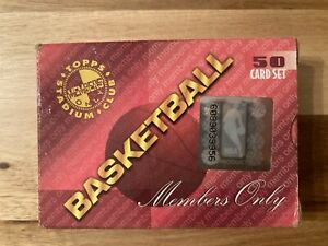 1995 TOPPS STADIUM CLUB MEMBERS ONLY 50ct. BOX BASKETBALL SET