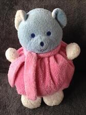 916- Doudou peluche boule ours bleu rose blanc - Musti - Mustela - Comme neuf