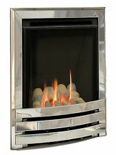 Flavel Windsor contemporanea GAS FUOCO in Chrome, Pebble Bed
