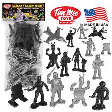 TimMee Processed Plastic GALAXY LASER TEAM: 50 Tim Mee STAR PATROL Space Figures