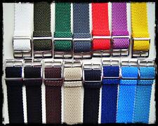 Cinturini Perlon ardiglione argento/oro 16-18-20mm. Perlon Nylon Straps.