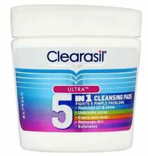 CLEARASIL ULTRA 5-IN-1 CLEANSING PADS FIGHTS 5 PIMPLE PROBLEMS - PACK OF 65 PADS