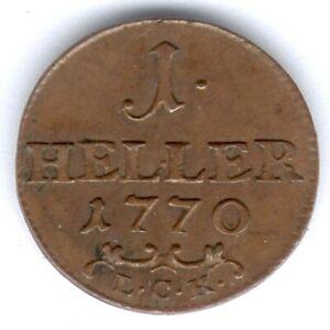 Sachsen-Gotha-Altenburg Friedrich III.(1732-1772) I Heller 1770 L.C.K. UNC.-