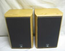 Pair of JBL 2500 Bookshelf Speakers Oak Wood Finish (Tested - Good Condition)