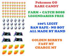 Pokemon Go Legendary Raid Farm Raids buy 3 get 1 free! Exp Rare Candies MTs