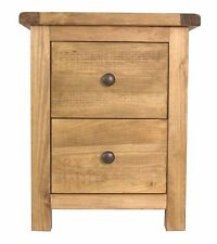 Pine 2 Drawer Bedside Table/Chest of Drawers Wax Finish