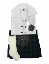 Baby Adjustable Tartan Kilt Outfit Shirt, Hose, Sporran In Various Colours