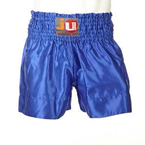 """Ju-Sports Thaiboxhose """"color"""" uni blau 88013"""