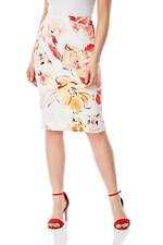 Roman Originals Women Knee Length Floral Scuba Skirt