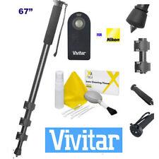 """VIVITAR 67"""" MONOPOD + REMOTE FOR NIKON D3100 D3200 D5100 D5200  D3000 D3400 D600"""