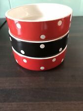 Mason Cash Ceramic Cat/Small Dog Bowls x3