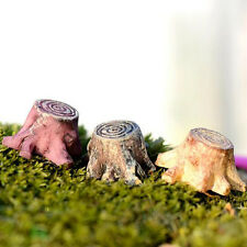 1Pcs Mini Figurines Miniature Tree Plant Resin Crafts for Garden Home Decoration
