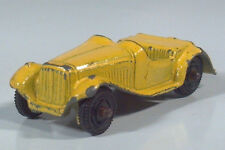 """Vintage Tootsietoy MG Convertible Roadster Scale Model 2.25"""" Die Cast Car Yellow"""