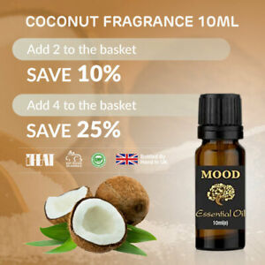 Coconut Fragrance Oil 10ml Candle Soap Bath Bombs Scented Making Wax Melts