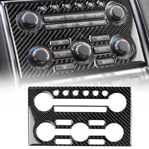 For Nissan GT-R R35 2008-2016 Carbon Fiber Interior AC Control Panel Frame Trim