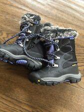 NEW Keen Kelsey toddler boy girl black periwinkle waterproof boots size 8