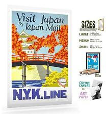 JAPAN NYK LINE 032 VINTAGE TRAVEL POSTER ART
