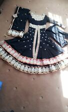 Gold & black Laddies girls dress for weddings or occasion full length. full arms