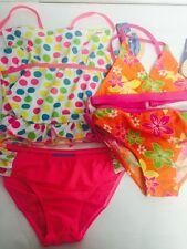 Jump'N Splash 2pair  Girl's Multicolor dots ,Flowers Swimsuits size 7/8
