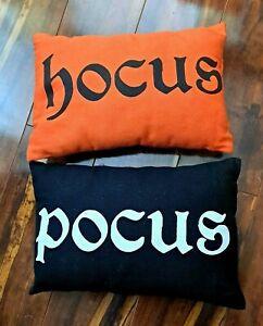 Black and Orange small pillows Hocus Pocus Disney Halloween