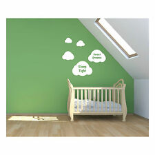 Sleep Tight Sweet Dreams Cloud Wall Decal Sticker Cute Baby Child Bedroom