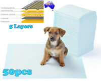 50pcs Puppy Pet Dog Indoor Cat Toilet Pee Training Pads Super Absorbent 60x60cm