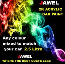 CAR PAINT 2K ACRYLIC ANY COLOUR OF YOUR CHOICE MIXED TO PAINT CODE 2.5lt