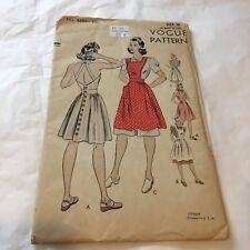 Vtg Vogue Pattern 8680 Sun Dress / Apron Sz 16 Bust 34 Hip 37 UNUSED