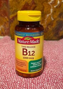 Nature Made Time Release Vitamin B12 - 1000 Mcg.  75 Tablets  Exp. 7/2023