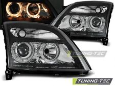 Headlights For OPEL VECTRA C 04.02-08.05 ANGEL EYES BLACK..