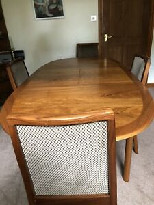 Nathan extending Oval dining table and 4chairs