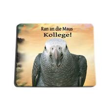 Ara- Mousepad - Graupapagei Mauspad  mit Motiv - -Papagei