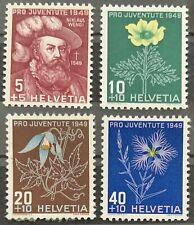 Série PRO JUVENTUTE 1949 : Neuf MNH ** , Mi 541-544