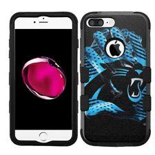for iPhone 8 Plus Rugged Rubber+Hard Hybrid Case Carolina Panthers #Glove
