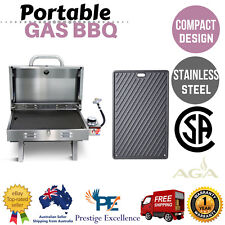 Portable Gas BBQ Grill Plate Stainless Steel Outdoor Camping LPG Barbecue Cooker