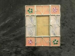 Pink Glass Picture Frame