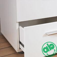 Comodino 2 cassetti bianco 40x40 h42 cm cassettiera camera da letto serie Pepe