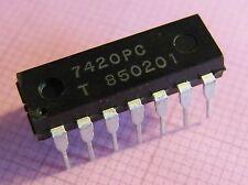20x 7420pc DUAL 4-INPUT NAND GATE del, Tungsram