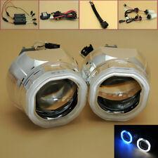"2.5"" Universal Xenon Headlight HID Bi-Xenon Projector Lens Halo Angel Devil Eyes"