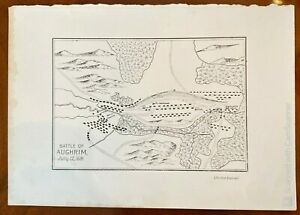 The Battle of Aughrim Battle Print 12th July 1691