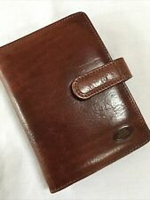 ORGANISER/FILOFAX-RARE THE BRIDGE GORGEOUS COGNAC ITALIAN LEATHER POCKETBOOK